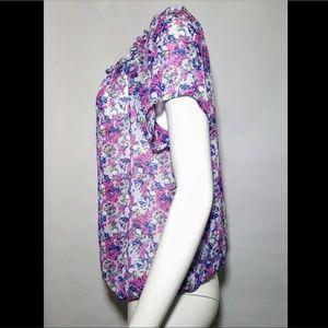 torrid Tops - Torrid Blouse Plus Size Sheer Floral Skulls